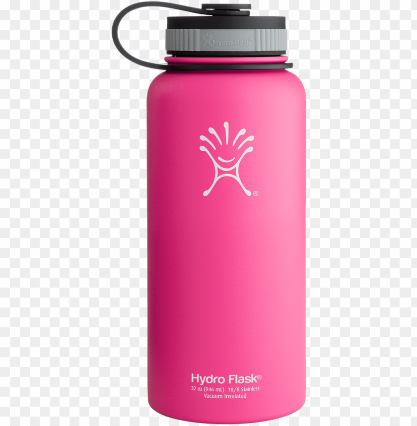 free PNG 32oz or 40oz hydroflask in pink flask water bottle, - active water bottle hydro flask PNG image with transparent background PNG images transparent