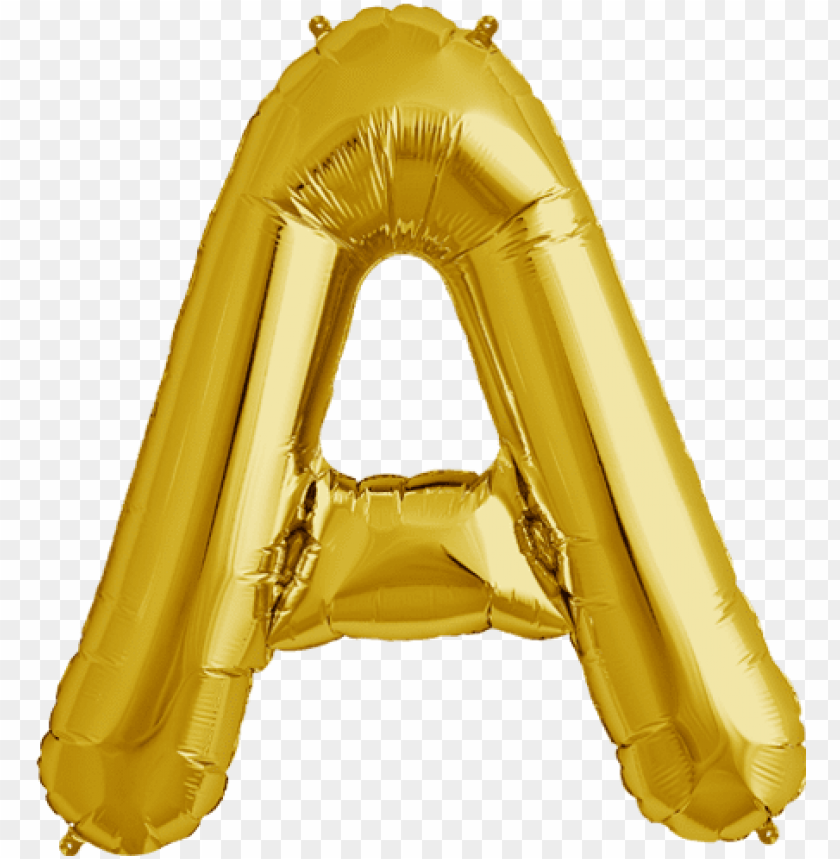 """free PNG 34"""" gold letter a foil balloon - gold balloon letters PNG image with transparent background PNG images transparent"""