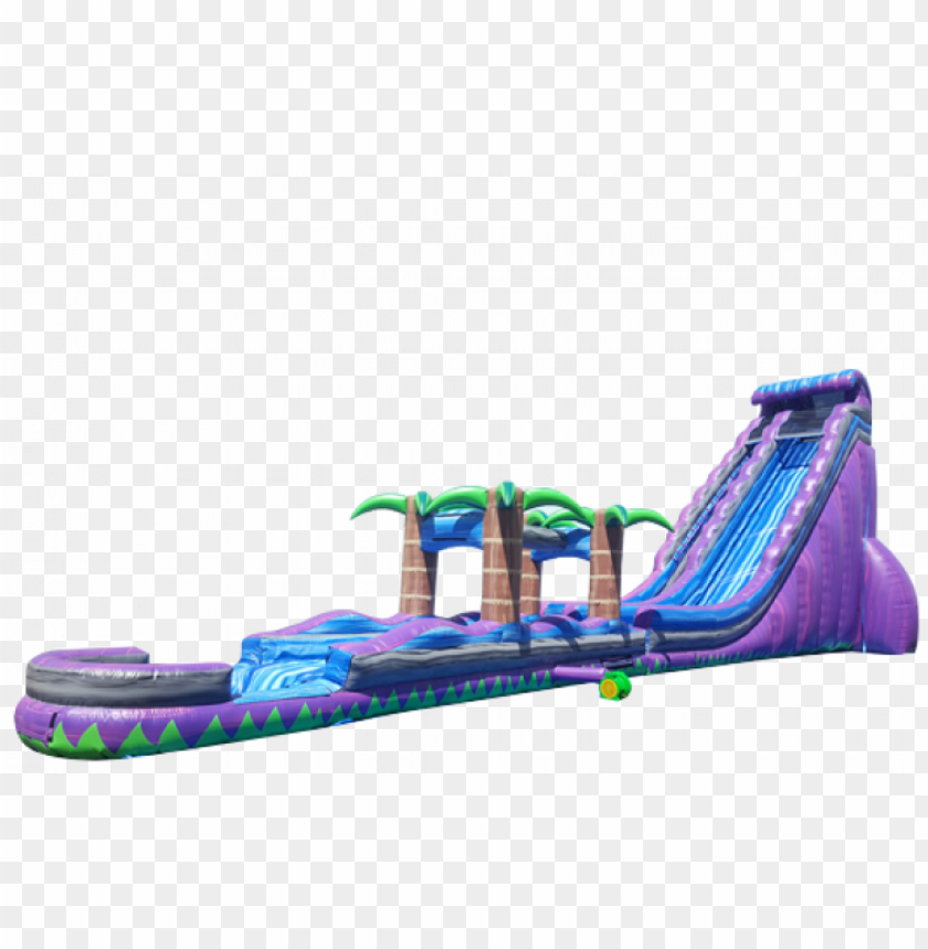 free PNG 38' purple rain water slide - photograph PNG image with transparent background PNG images transparent