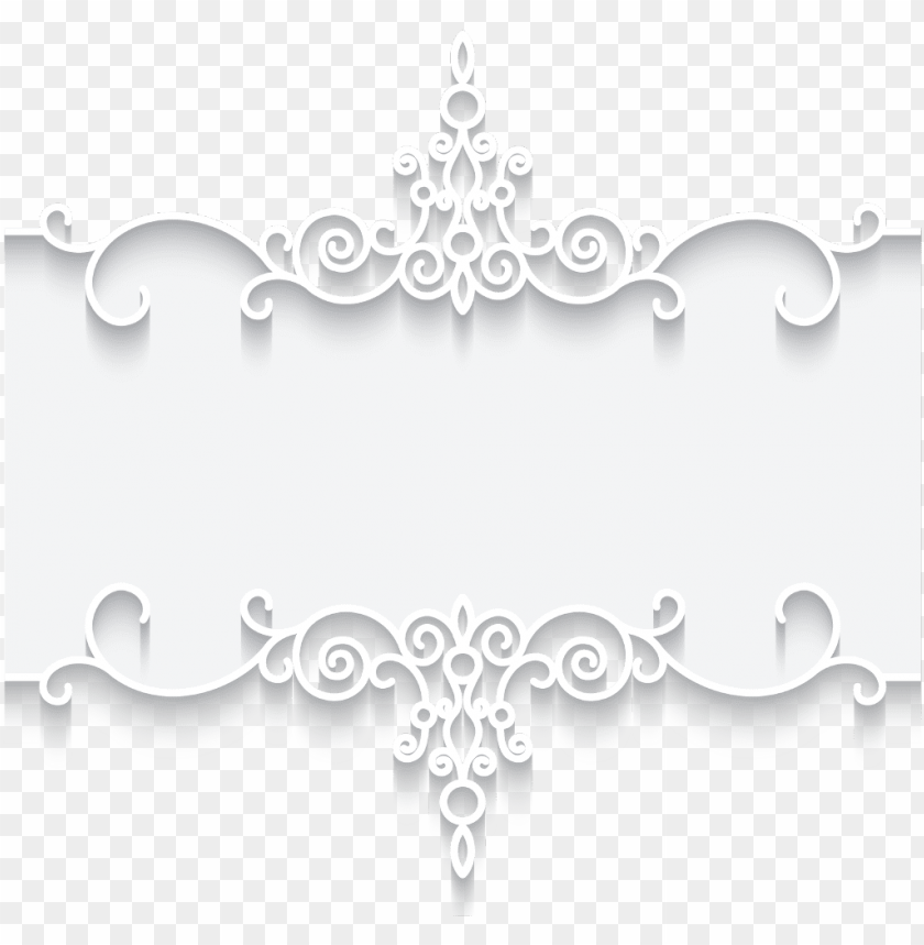 3d 3deffect mq white flowers border borders frame frame - vetor png borda renda PNG image with transparent background@toppng.com