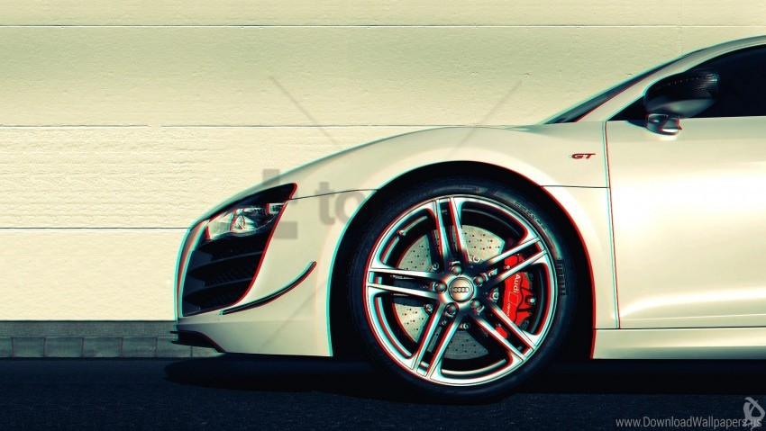 free PNG 3d, anaglyph, audi r8, car wallpaper background best stock photos PNG images transparent