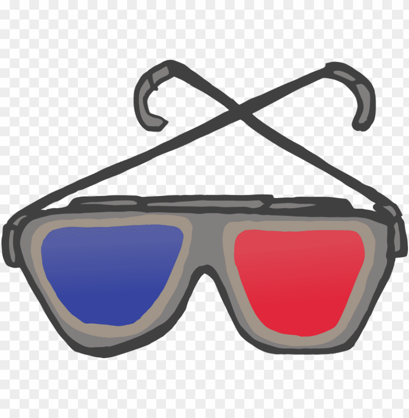 free PNG 3d anaglyph glasses - 3d glass PNG image with transparent background PNG images transparent