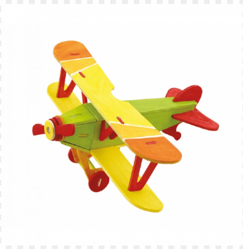 free PNG 3d biplane natural, 4 colors and brush - rompecabezas de ensamble PNG image with transparent background PNG images transparent