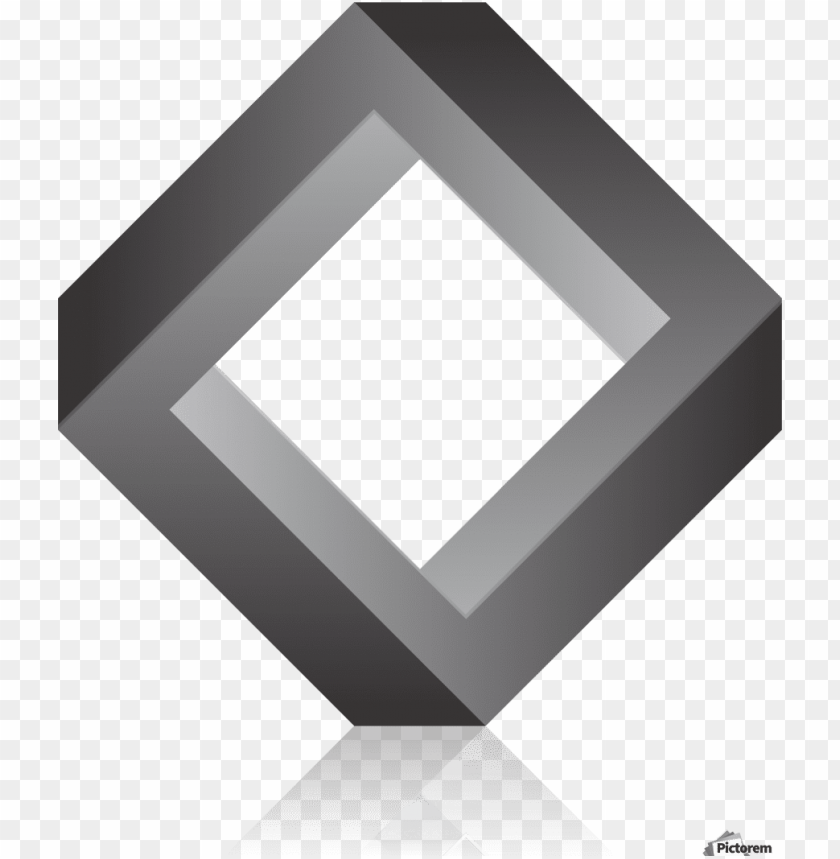 free PNG 3d geometric square print - 3d square PNG image with transparent background PNG images transparent