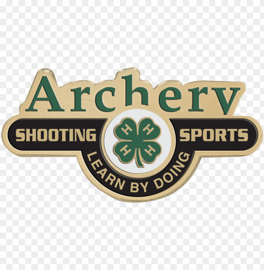 free PNG 4-h shooting sports archery pin - 4 h archery PNG image with transparent background PNG images transparent
