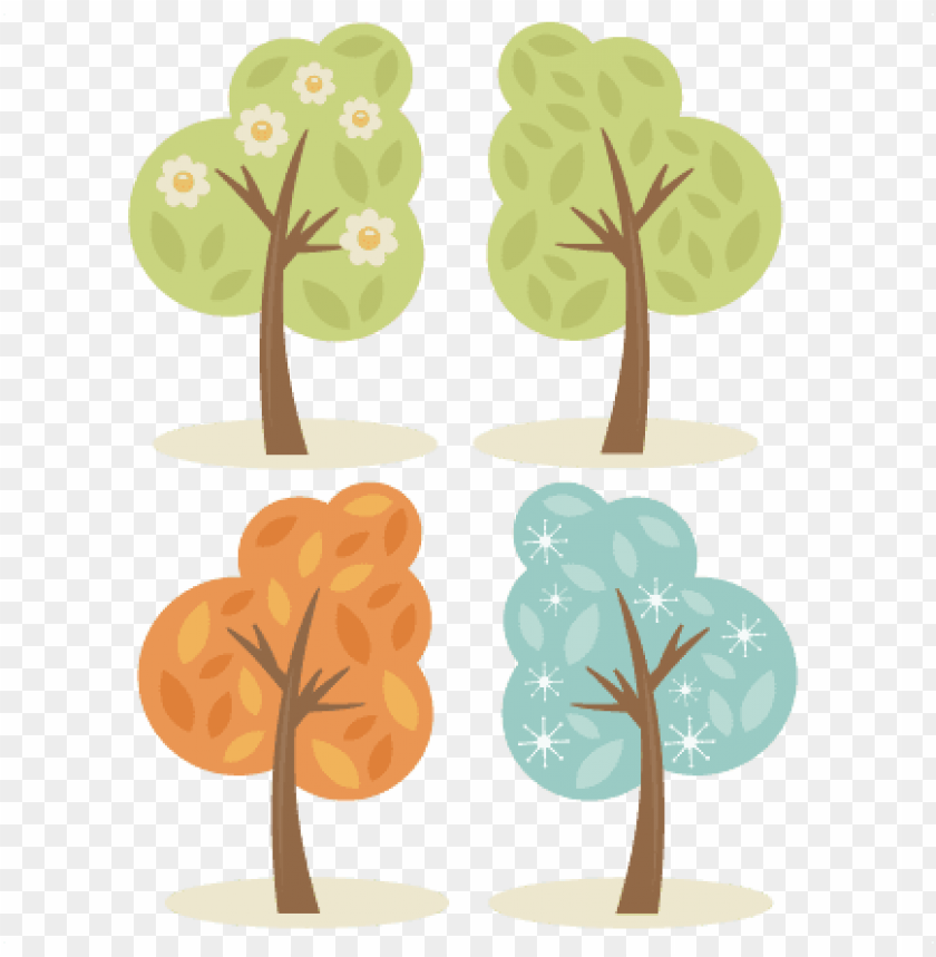 free PNG 4 season trees svg cutting files spring tree svg summer - winter spring summer fall PNG image with transparent background PNG images transparent