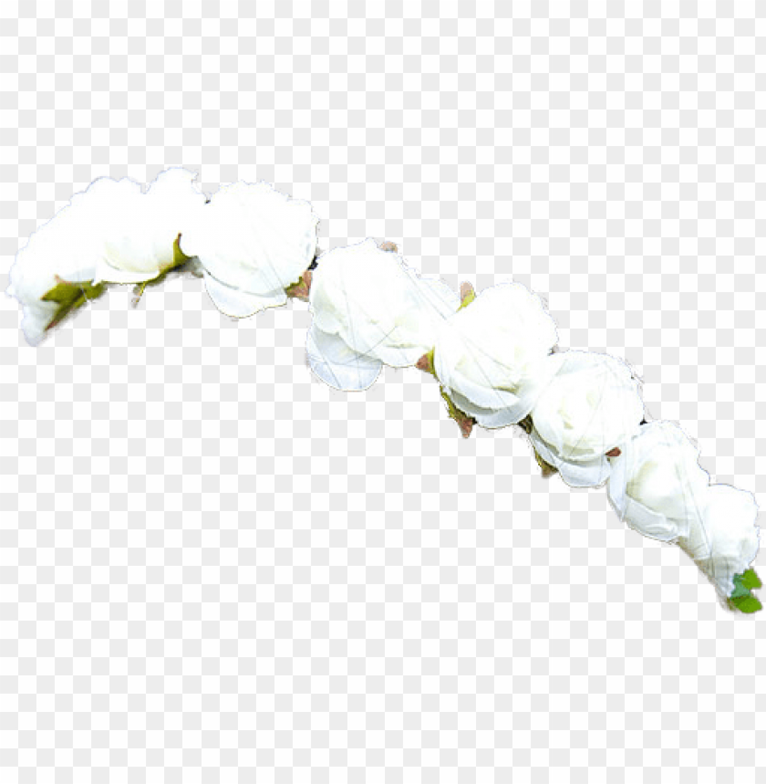 free PNG 49 images about اطواق ورد on we heart it - white flower crown PNG image with transparent background PNG images transparent