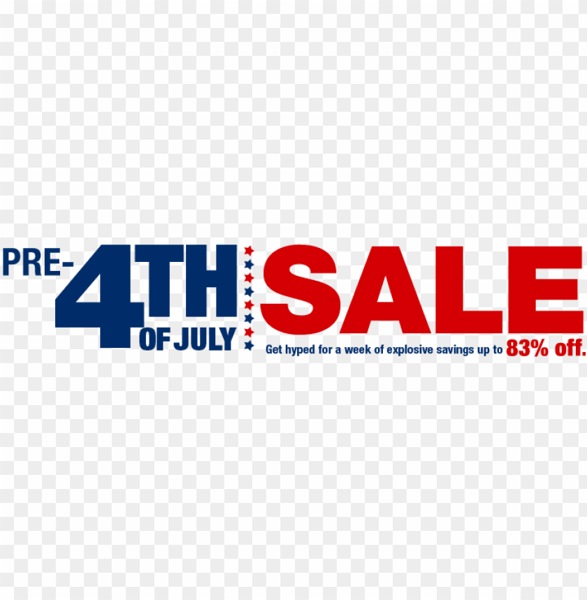 free PNG 4th of july sale png - pre 4th of july sale PNG image with transparent background PNG images transparent