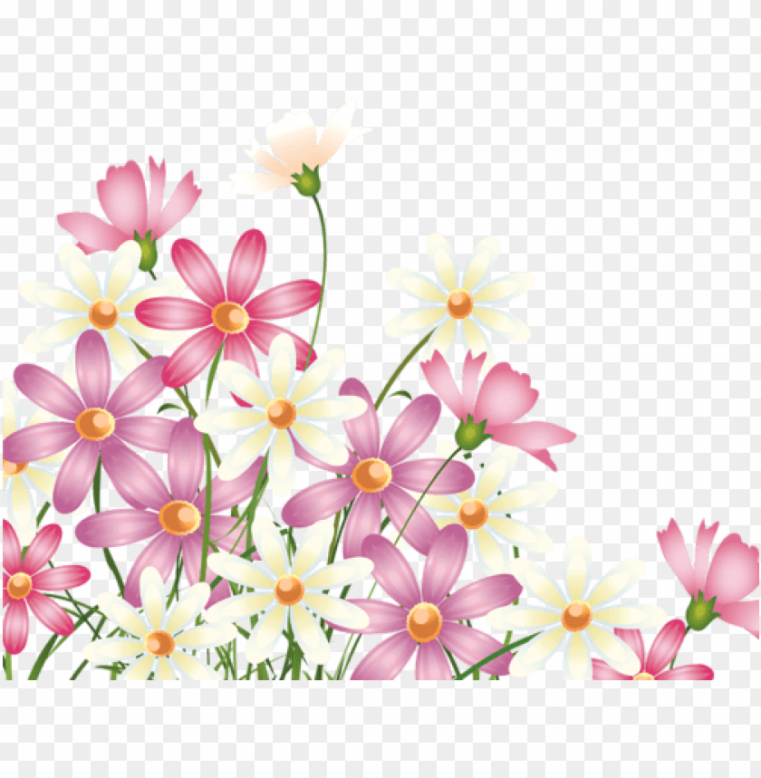 5 Corner Flower Borders Png Image With Transparent