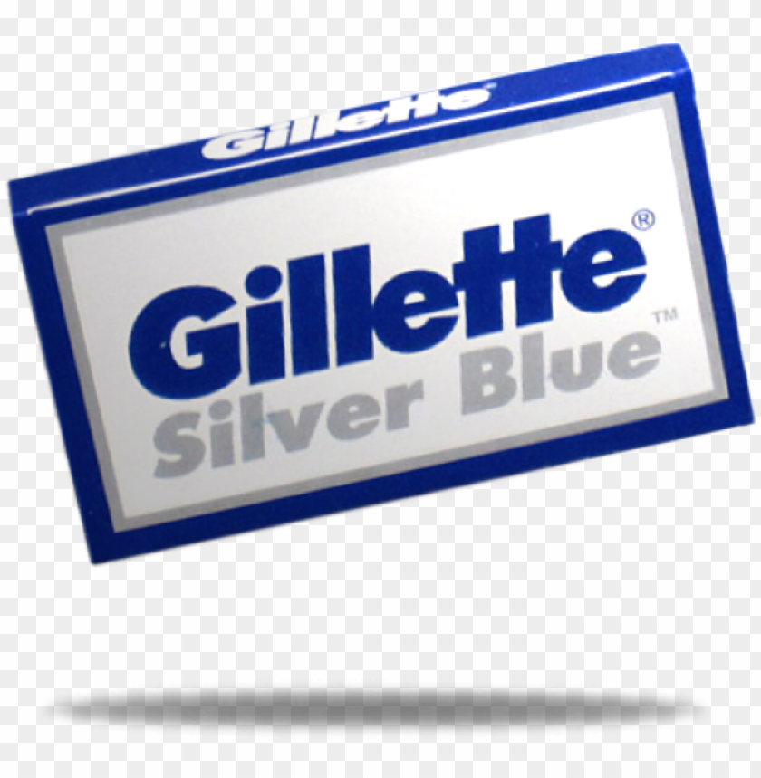 free PNG 5 gillette silver blue double-edge blades - gillette silver blues double edge blades, 5 ct. (pack PNG image with transparent background PNG images transparent