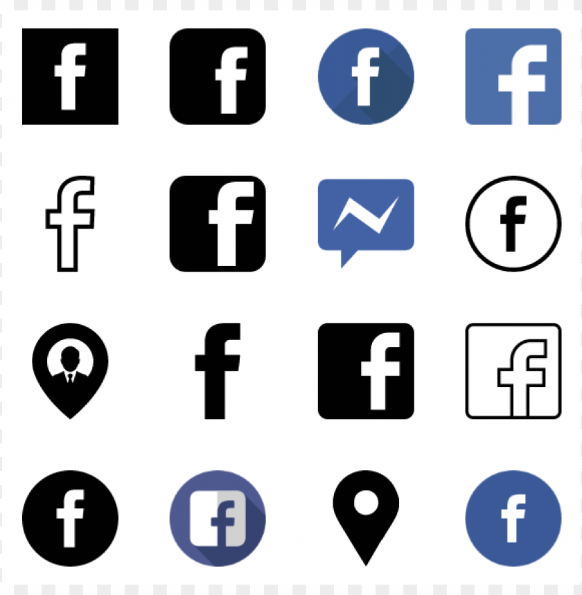 free PNG 50 facebook icons vector PNG images transparent