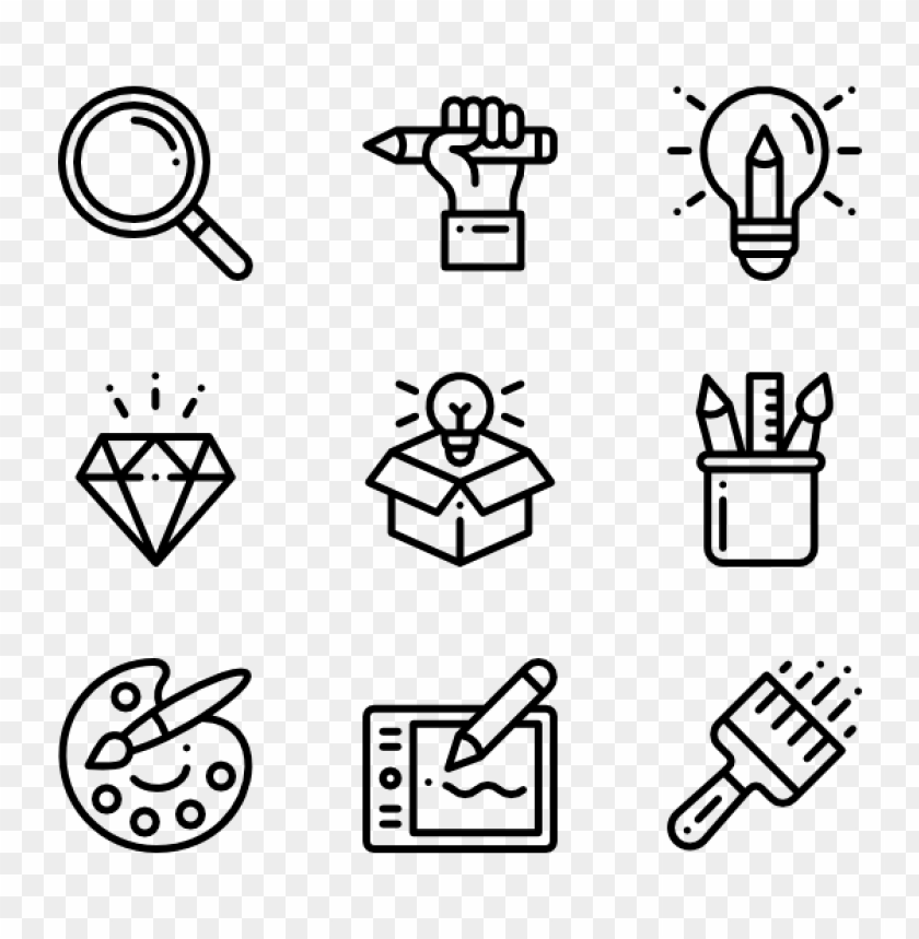 free PNG 50 graphic design icons vector free download PNG images transparent