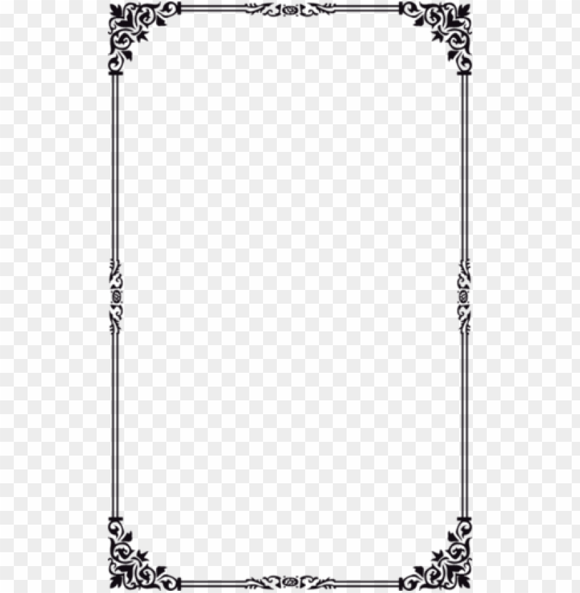 free PNG 514 Х 831 boarders and frames, vector border, borders - border simple design PNG image with transparent background PNG images transparent