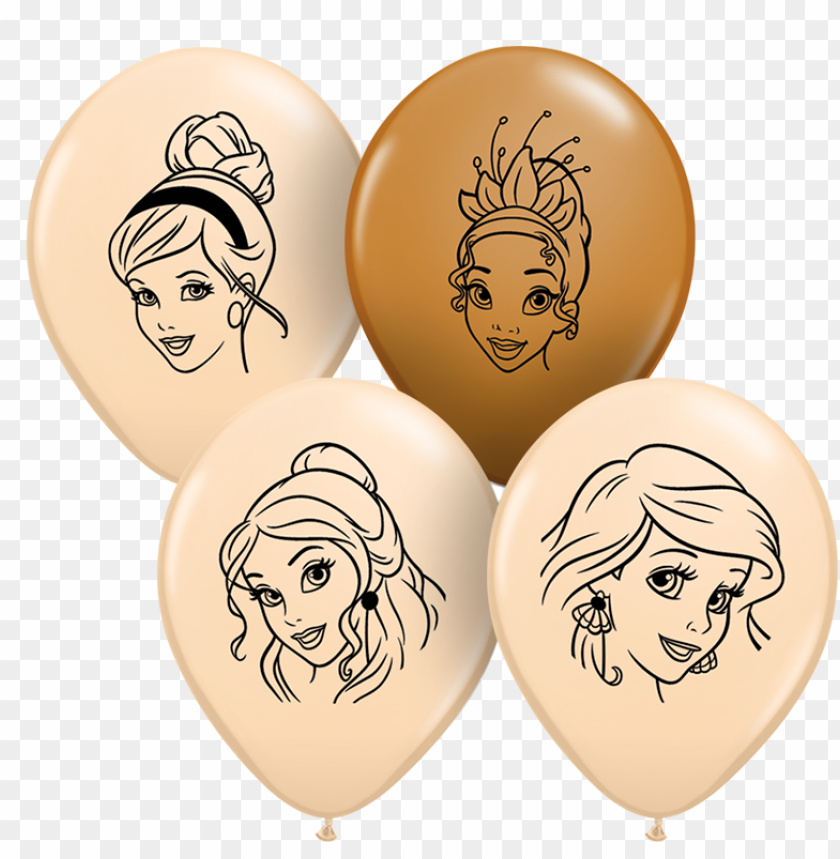 free PNG 6 inch disney princess heart shaped latex balloons PNG image with transparent background PNG images transparent