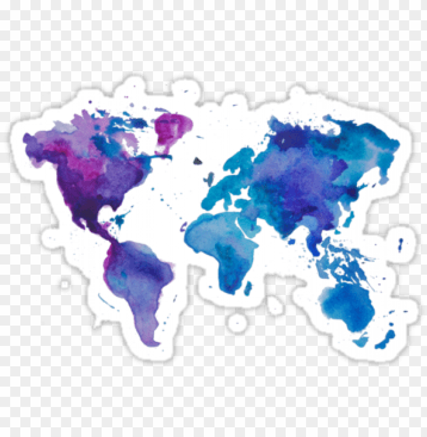 #6 watercolor map of the world by anastasiia kucherenko - watercolour world map background PNG image with transparent background@toppng.com