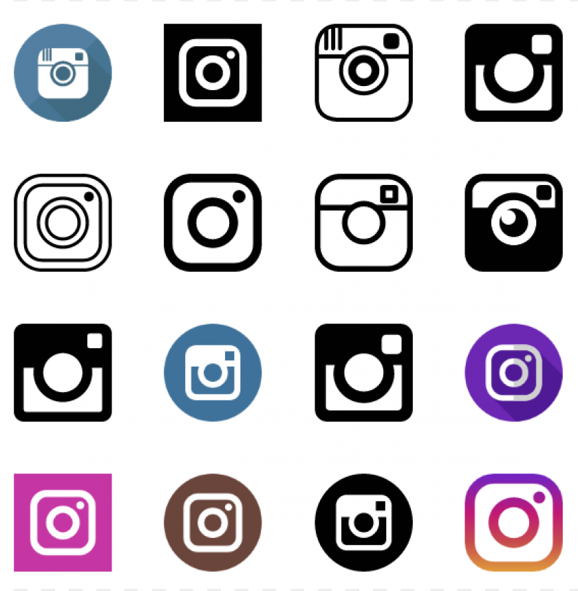 free PNG 60 instagram icons vector free download PNG images transparent