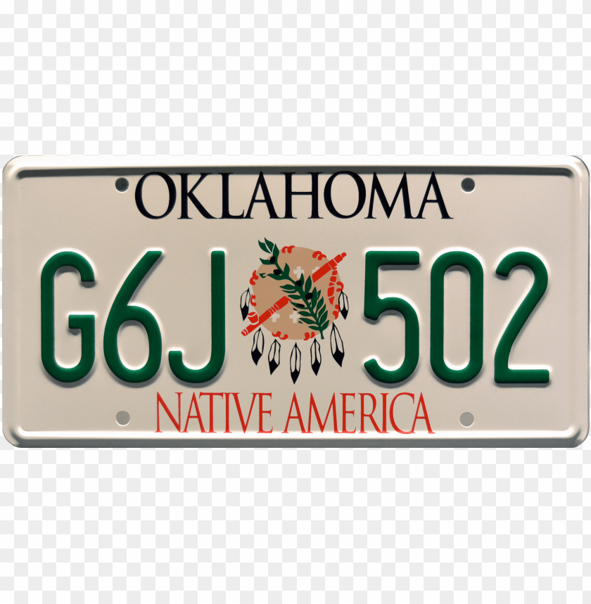 free PNG 6j 502 prop plate movie memorabilia from twister starring - oklahoma license plate pro PNG image with transparent background PNG images transparent
