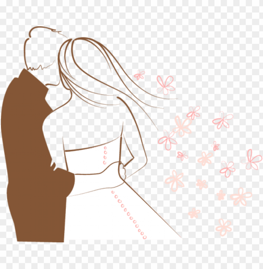 718 х 593 Couple Clipart Bride And Groom Silhouette