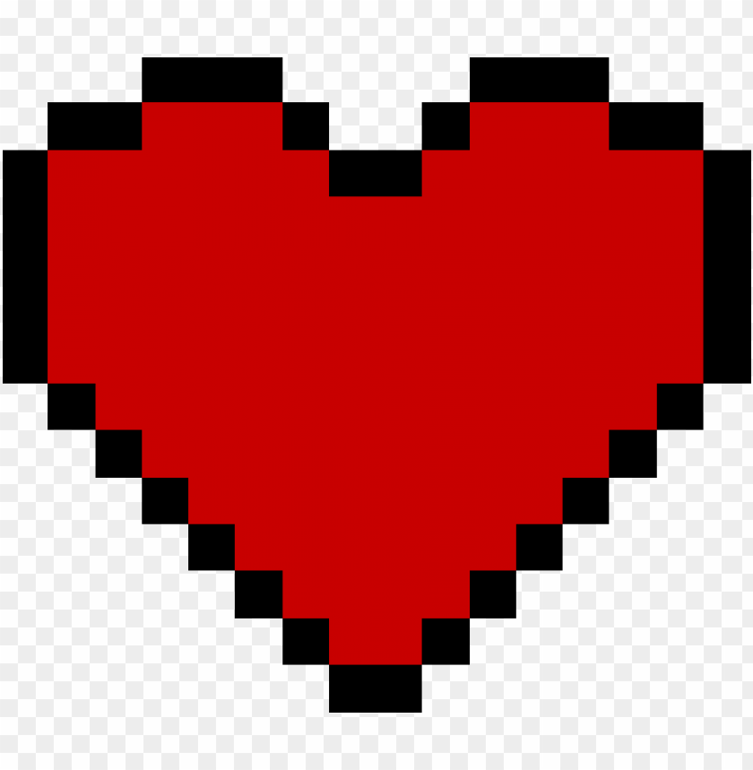 8 bit heart PNG image with transparent background@toppng.com