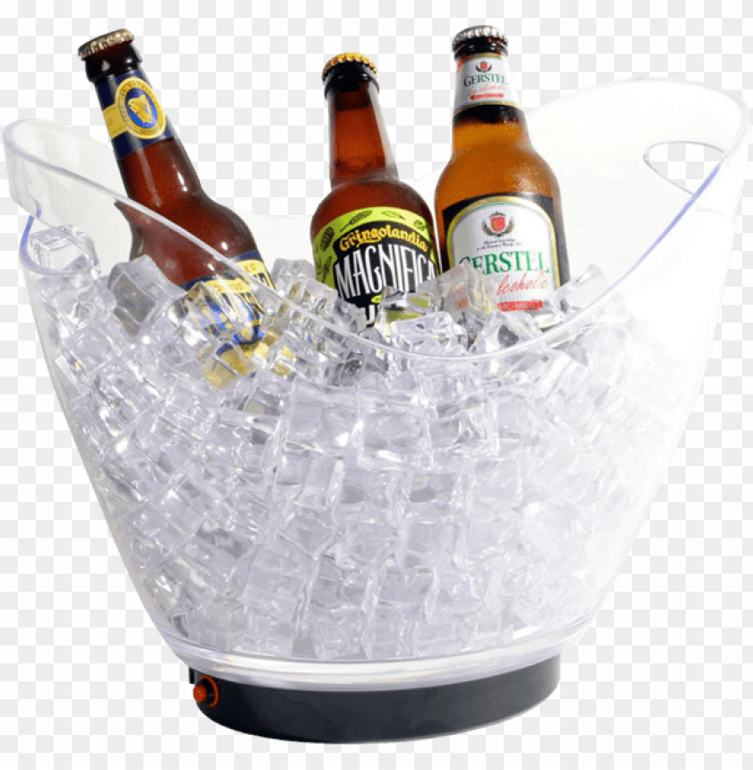 8 Liter Led Ice Bucket Beer Bottle Png Image With Transparent