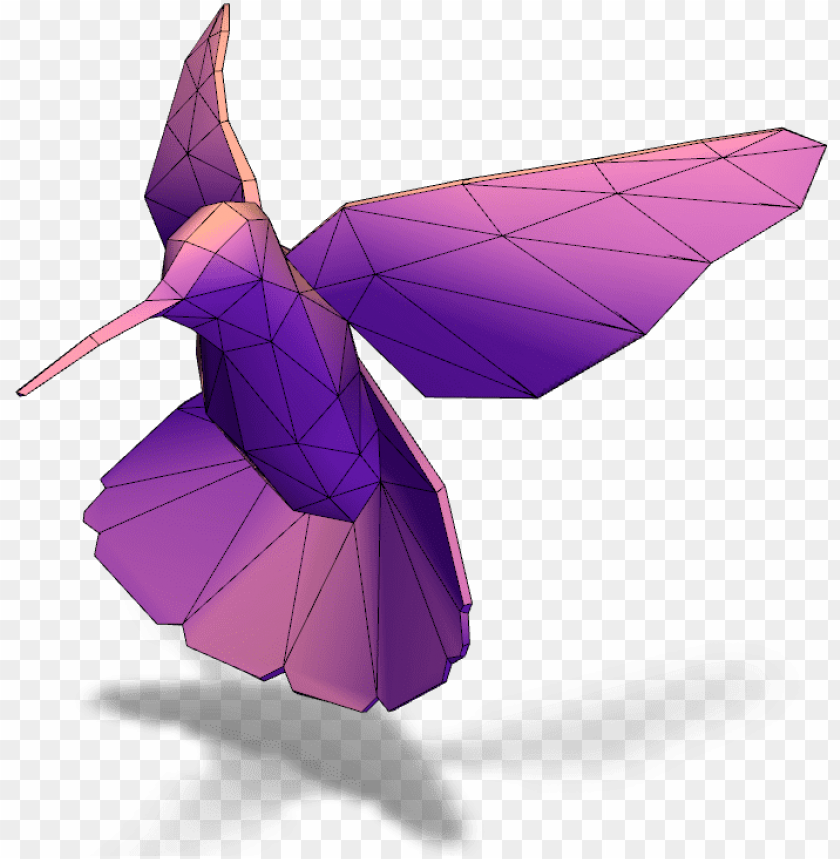 free PNG a 3d model created with vectary - origami PNG image with transparent background PNG images transparent