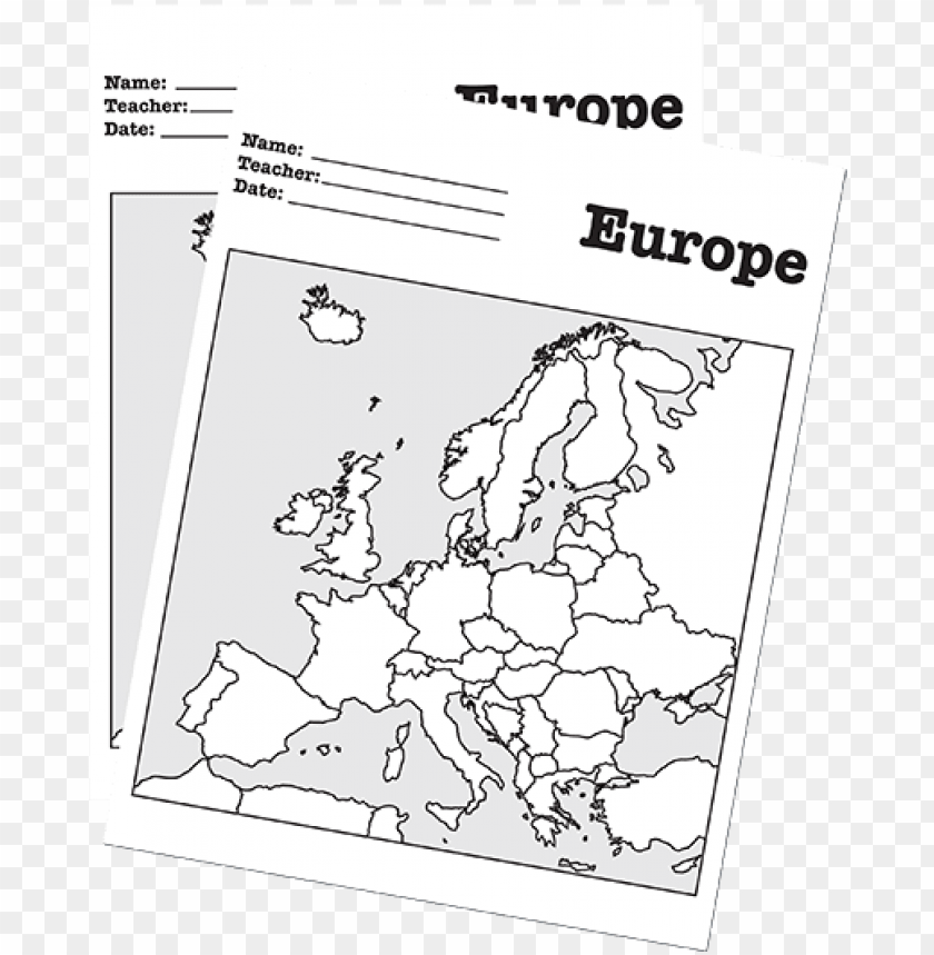 Blank Map Of Europe Worksheet a blank map of europe for students to label   blank map of europe