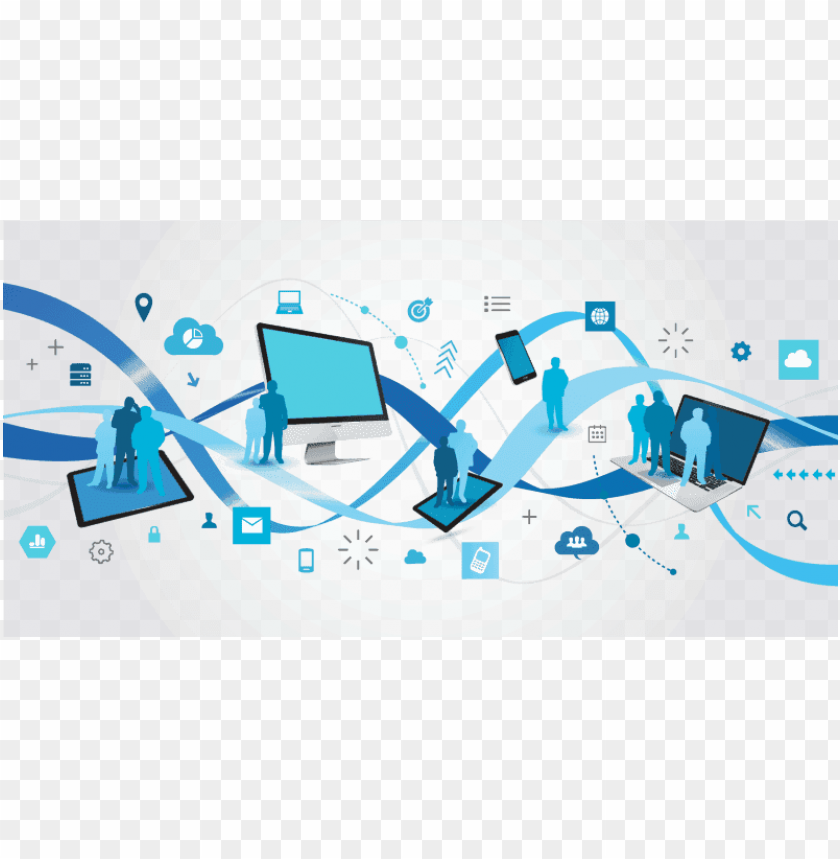 free PNG a computer network is a group of computers connected - computer systems cartoo PNG image with transparent background PNG images transparent