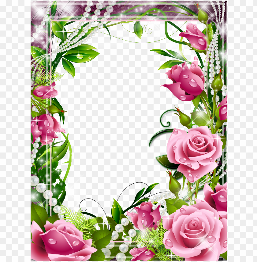 free PNG a frame background, pink roses, png photo, borders - 5d diy diamond painting cross stitch pink rose diamond PNG image with transparent background PNG images transparent
