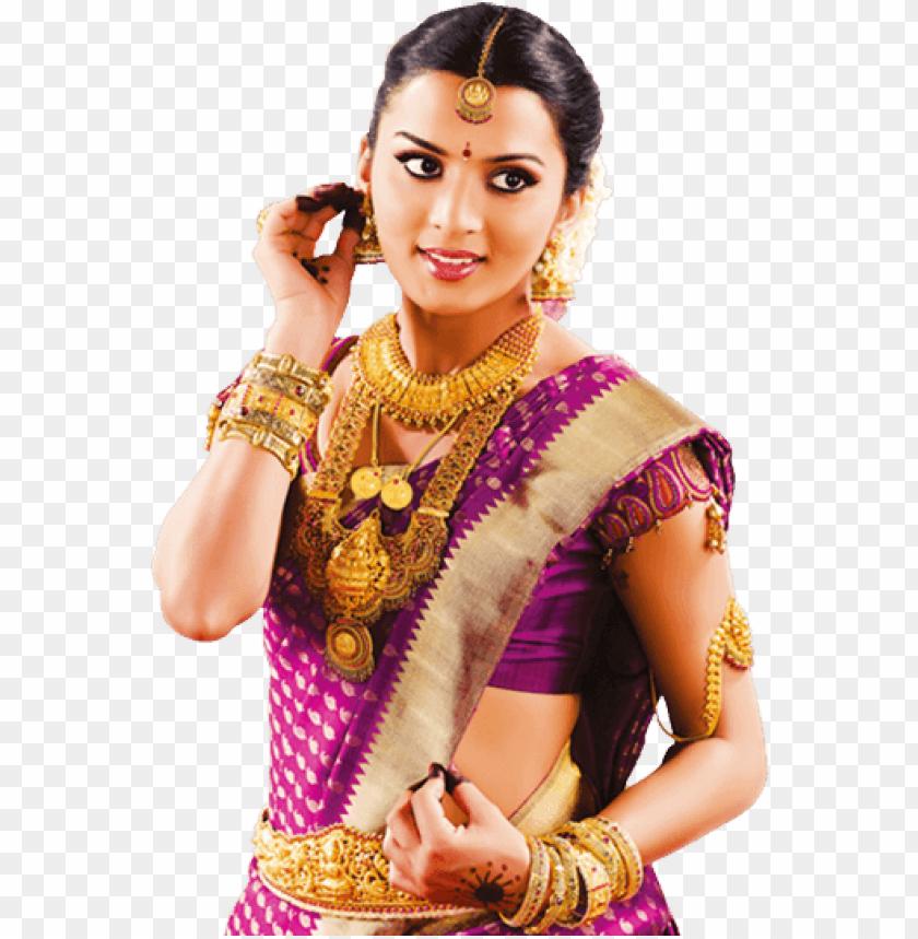 free PNG a fully dressed telugu - arya vysya brides PNG image with transparent background PNG images transparent