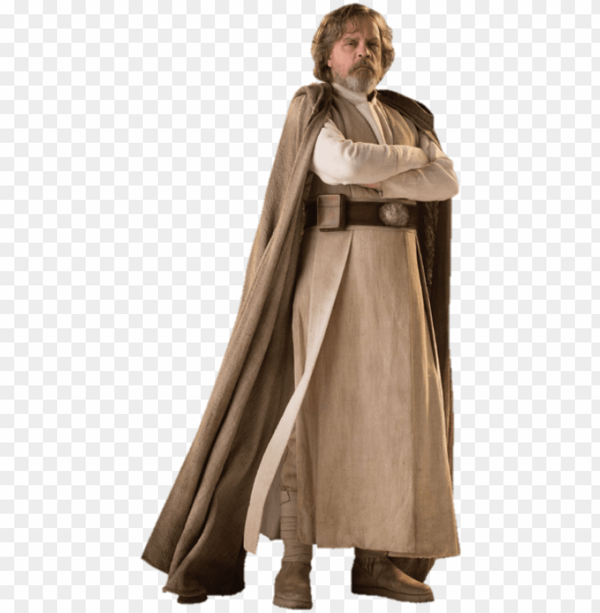 free PNG a large batch of character standees for star wars - luke skywalker costume last jedi PNG image with transparent background PNG images transparent