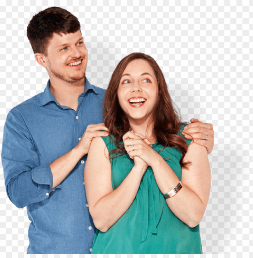 free PNG a man and woman looking happy and excited - affinity plus federal credit unio PNG image with transparent background PNG images transparent