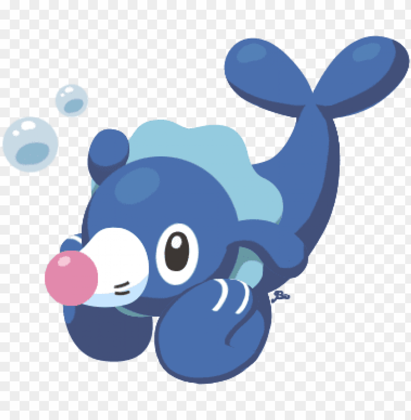 "free PNG ""a popplio for red nose day "" - blue pokemon with red nose PNG image with transparent background PNG images transparent"