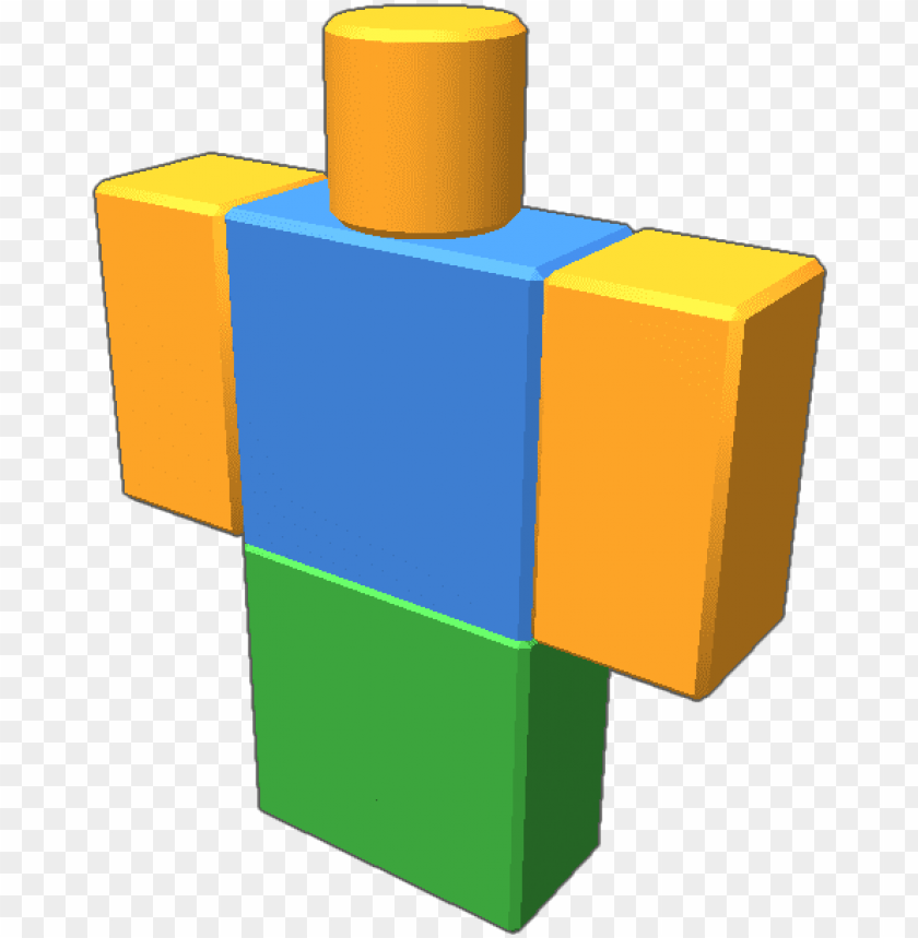 A Roblox Avatar In A Noob Skin Illustratio Png Image With