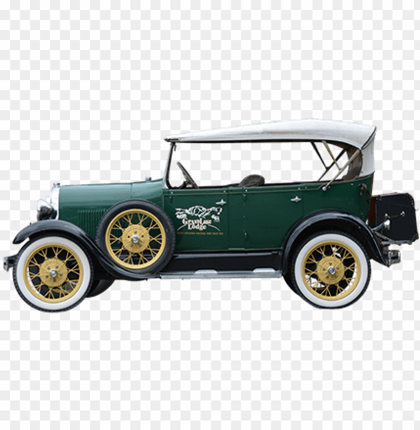 free PNG a side elevation of an old timey car parked outside - old car side PNG image with transparent background PNG images transparent