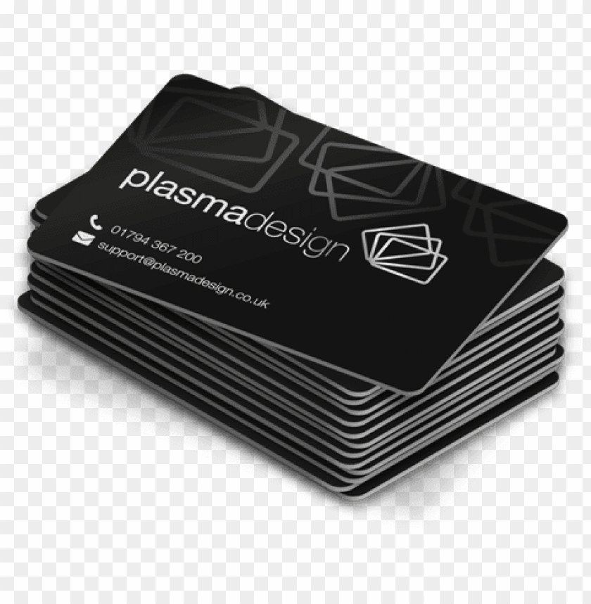 a stack of satin black plastic cards - hd images of business cards PNG image with transparent background@toppng.com