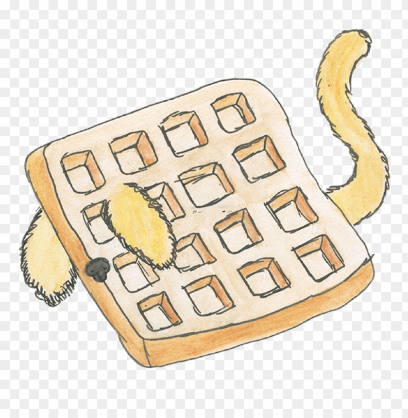 free PNG a waffle with dog ears and a tail - dog ears PNG image with transparent background PNG images transparent