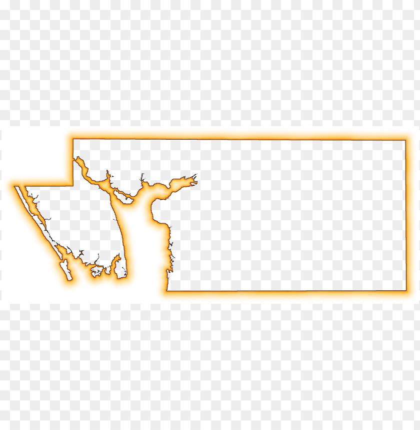 free PNG a yellow-orange glow outline map of charlotte - gif PNG image with transparent background PNG images transparent