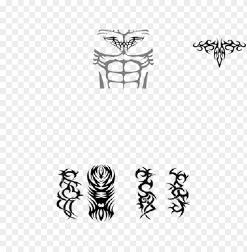 Abs With Tattoos Roblox Abs With Tattoo Png Image With
