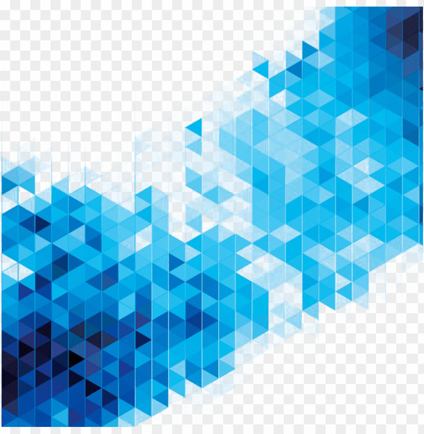 free PNG abstract art geometry stock - blue abstract triangle PNG image with transparent background PNG images transparent