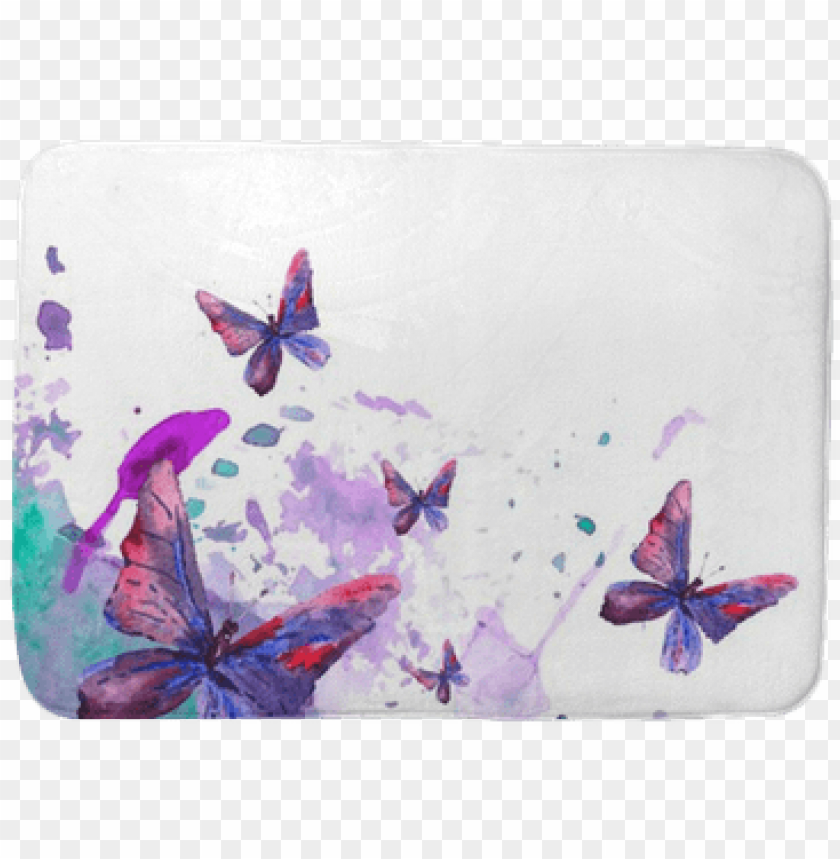 free PNG abstract watercolor background with butterflies bath - watercolour abstract butterfly desi PNG image with transparent background PNG images transparent
