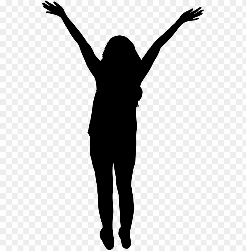 free PNG abstract woman arms up silhouette png - woman silhouette hands u PNG image with transparent background PNG images transparent
