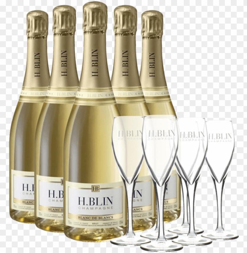 free PNG ack 6 bottles champagne h PNG image with transparent background PNG images transparent