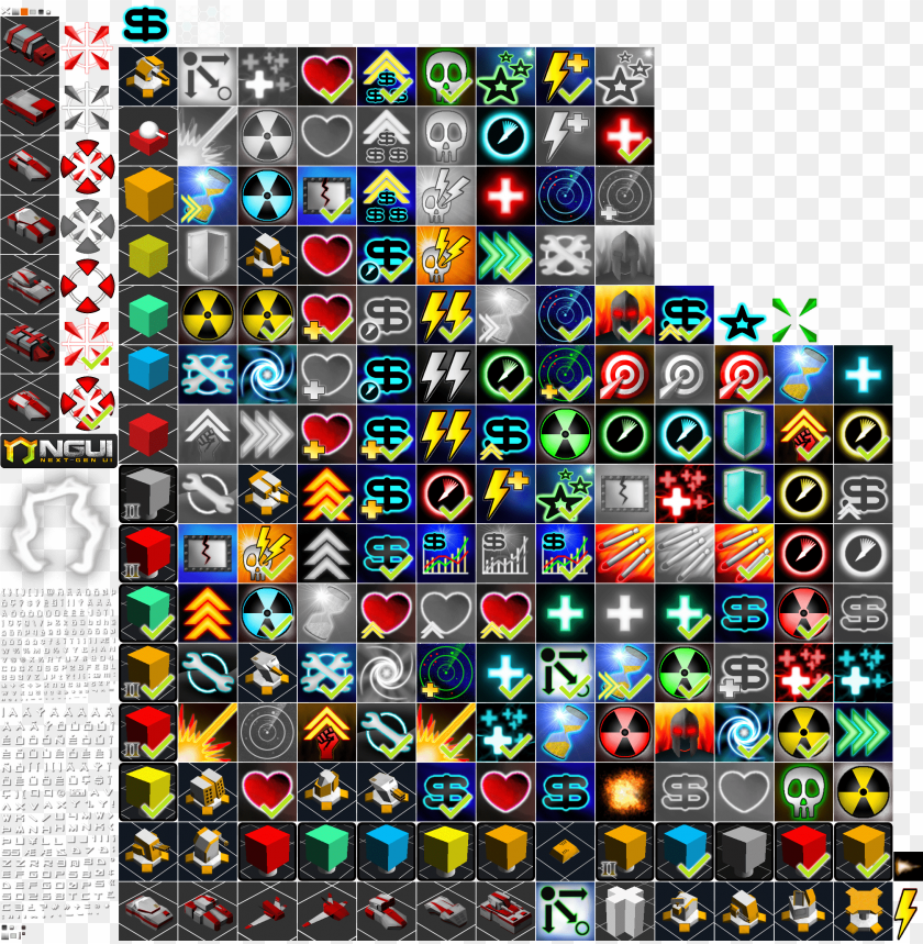 free PNG add media report rss icons used in tower defense - sci fi game icons png - Free PNG Images PNG images transparent