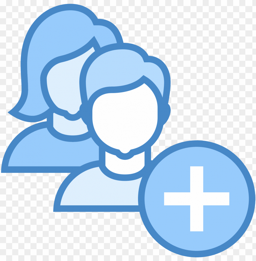 free PNG add user group woman man icon - add group icons png - Free PNG Images PNG images transparent