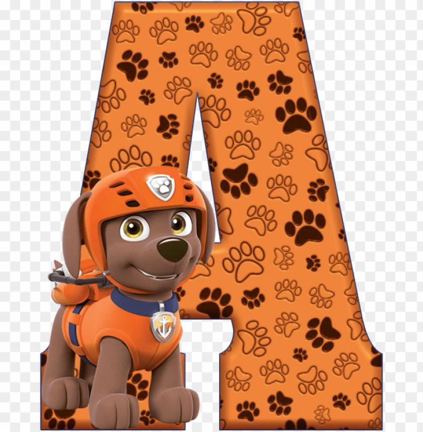 free PNG *✿**✿*a*✿**✿*de alfabeto decorativo - alfabeto patrulha canina PNG image with transparent background PNG images transparent