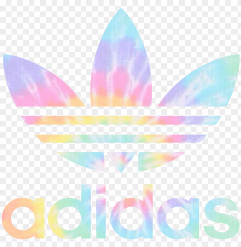 free PNG adidas logo rainbow freetoedit png adidas logo rainbow - adidas logo holographic PNG image with transparent background PNG images transparent