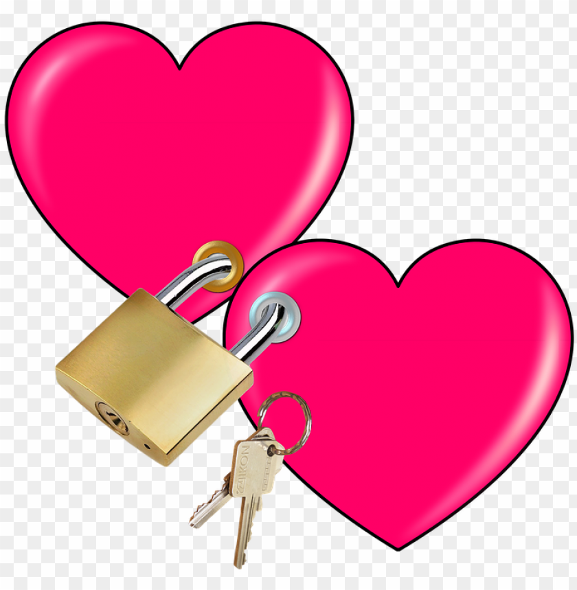 free PNG adlock clipart heart - key love PNG image with transparent background PNG images transparent