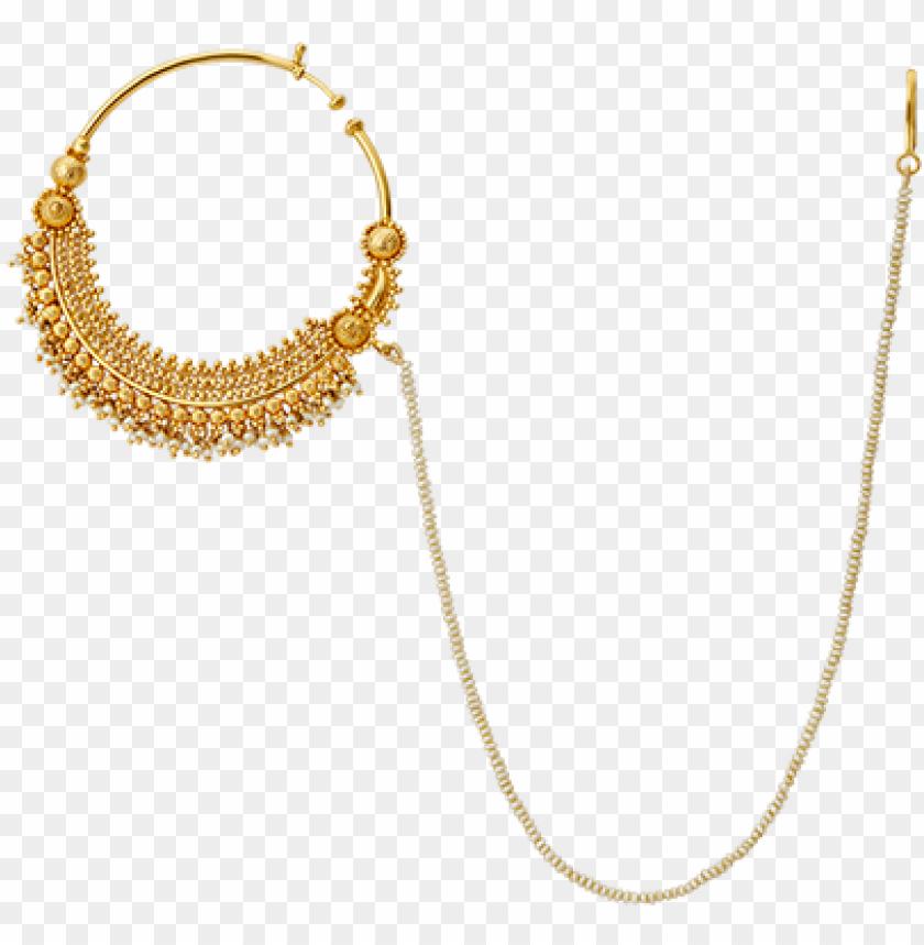Admavati Jewellery Nose Pin Chain Design Nath Designs In Gold