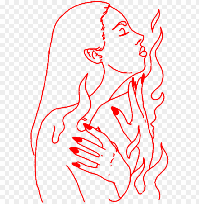 Aesthetic Art Girl Woman Lineart Outline Red Hand Hands Illustratio Png Image With Transparent Background Toppng See more ideas about png, red, mood board. aesthetic art girl woman lineart