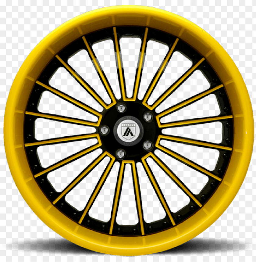 free PNG af122 in black and yellow - asanti wheels rims af122 black yellow.. 22inch 5x120.65 PNG image with transparent background PNG images transparent